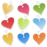 Love icon3. Collection of icons of hearts on a white background. A  illustration Royalty Free Stock Image