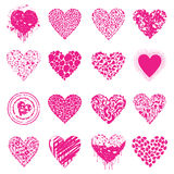 Love icon8. Set of icons of Pink hearts. A vector illustration Royalty Free Stock Photos