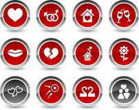 Love icons. Stock Photography