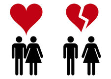 Love icons. Two icons of romantic relationships Royalty Free Stock Image