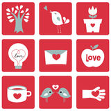Love Icons Stock Photos