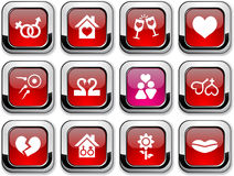 Love icons. Stock Photos