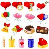 Love icons Stock Image