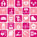 Love icons. This is a collection of love icons Royalty Free Stock Photography