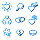 Love icons vector illustration