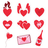 Love icons Stock Photo