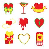 Love icons Stock Photo