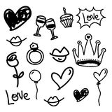 Love icons Stock Image