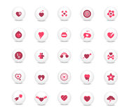 Love icons set Stock Images