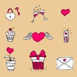 Love icons set Royalty Free Stock Photos