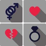 Love icons Stock Photos