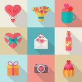 Love icons set Stock Photos