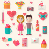 Love icons set Stock Photography
