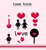 Love Icons Royalty Free Stock Photo