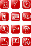 Love Icons Set. Set of red  isons on love theme Stock Photography