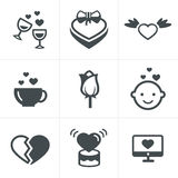 Love  Icons Set, Vector Design Royalty Free Stock Image