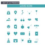 Love icons set vector. For web design and application interface, also useful for infographics. Vector illustration Stock Photography