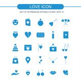 Love icons set vector. For web design and application interface, also useful for infographics. Vector illustration Stock Photo