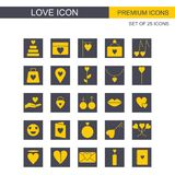 Love icons set vector. For web design and application interface, also useful for infographics. Vector illustration Royalty Free Stock Image
