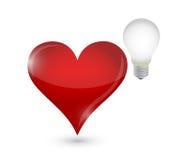 Love the idea bulb concept illustration design Stock Image