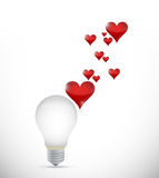 Love the idea bulb concept illustration Royalty Free Stock Photography