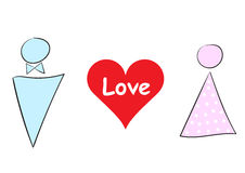 Love illustration with heart Royalty Free Stock Image