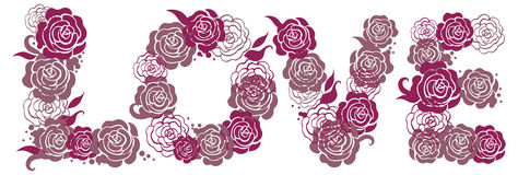 Love illustration with roses Stock Images