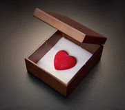 Love In A Box Royalty Free Stock Photography
