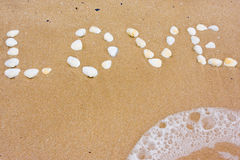 Love In Sand Stock Photo