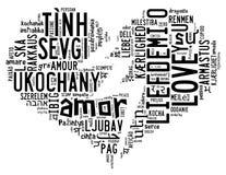 Love info-text cloud Royalty Free Stock Photos