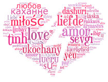 Love info-text cloud Stock Photo