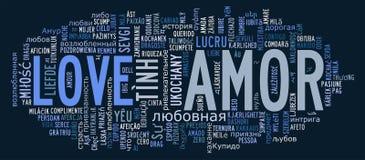 Love info-text cloud various language Royalty Free Stock Photos