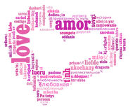 Love info-text cloud various language Stock Photos