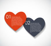 Love Infographic Templates for Business Vector Stock Image