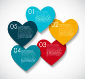 Love Infographic Templates for Business Vector Royalty Free Stock Image