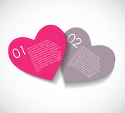 Love Infographic Templates for Business Vector Royalty Free Stock Photos