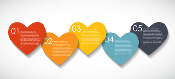 Love Infographic Templates for Business Vector Royalty Free Stock Images