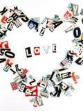 Love inscription Royalty Free Stock Photo