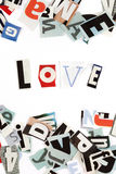 Love inscription letters Stock Photography