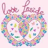 Love Inside Hearts Stock Image