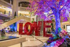 LOVE installation at the Las Vegas Venetian Royalty Free Stock Images
