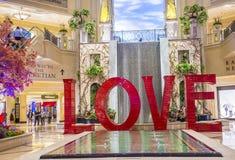 LOVE installation at the Las Vegas Venetian Stock Image