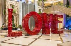 LOVE installation at the Las Vegas Venetian Stock Images