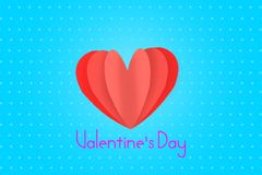 Love Invitation card Valentine`s day blue background.  Royalty Free Stock Photos