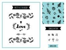 Love invitation decoration elements Stock Photos