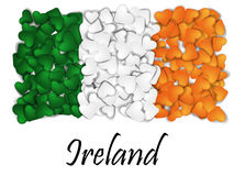 Love Ireland. Flag Heart Glossy. With love from Ireland. Made in Ireland. Saint Patrick flag. Ireland national independence day. S Royalty Free Stock Photo