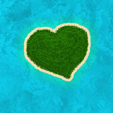 Love island. Paradise Island in the form of heart royalty free illustration