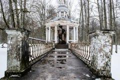 Love Islet Pavilion in Kemeri Landscape Park, latvia stock photo