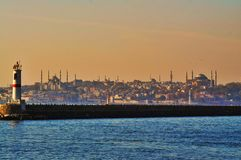 Love in İstanbul with colors stock photography
