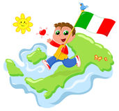 Love for Italy vector Royalty Free Stock Images